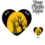 Death Haloween Background Card Playing Cards 54 (Heart)  Front - ClubA