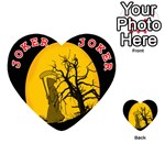Death Haloween Background Card Playing Cards 54 (Heart)  Front - Joker2