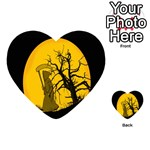 Death Haloween Background Card Playing Cards 54 (Heart)  Back