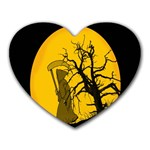 Death Haloween Background Card Heart Mousepads Front