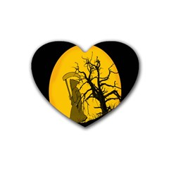 Death Haloween Background Card Heart Coaster (4 pack)