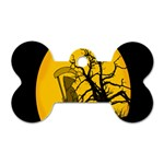 Death Haloween Background Card Dog Tag Bone (Two Sides) Front