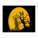 Death Haloween Background Card Small Glasses Cloth (2-Side) Front