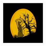 Death Haloween Background Card Medium Glasses Cloth Front