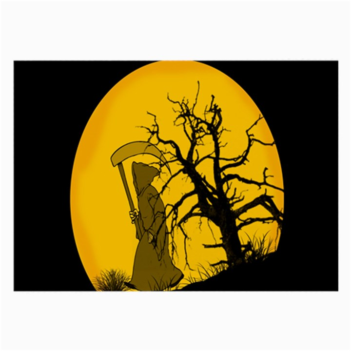 Death Haloween Background Card Large Glasses Cloth (2-Side)