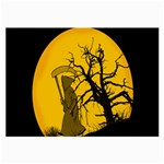 Death Haloween Background Card Large Glasses Cloth (2-Side) Back