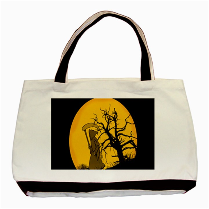 Death Haloween Background Card Basic Tote Bag (Two Sides)
