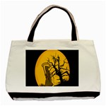 Death Haloween Background Card Basic Tote Bag (Two Sides) Back