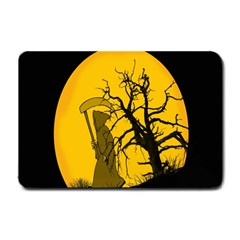 Death Haloween Background Card Small Doormat
