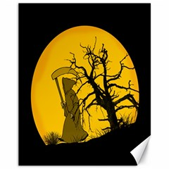 Death Haloween Background Card Canvas 11  x 14