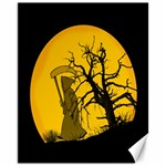 Death Haloween Background Card Canvas 11  x 14   14 x11 Canvas - 1