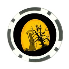 Death Haloween Background Card Poker Chip Card Guards