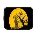 Death Haloween Background Card Netbook Case (Small)  Front