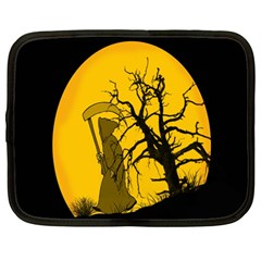 Death Haloween Background Card Netbook Case (Large)