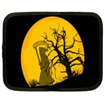 Death Haloween Background Card Netbook Case (Large) Front