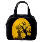 Death Haloween Background Card Classic Handbags (One Side) Front
