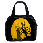 Death Haloween Background Card Classic Handbags (2 Sides) Front