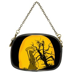 Death Haloween Background Card Chain Purses (One Side)