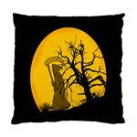 Death Haloween Background Card Standard Cushion Case (Two Sides) Back