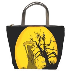 Death Haloween Background Card Bucket Bags