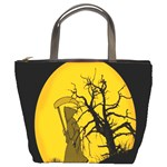 Death Haloween Background Card Bucket Bags Front