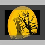 Death Haloween Background Card Mini Canvas 7  x 5  7  x 5  x 0.875  Stretched Canvas