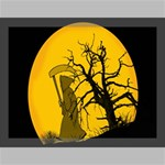Death Haloween Background Card Canvas 16  x 12  16  x 12  x 0.875  Stretched Canvas