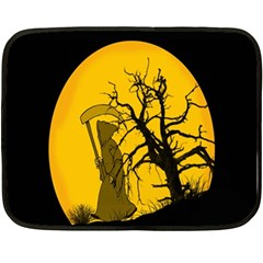 Death Haloween Background Card Double Sided Fleece Blanket (Mini)