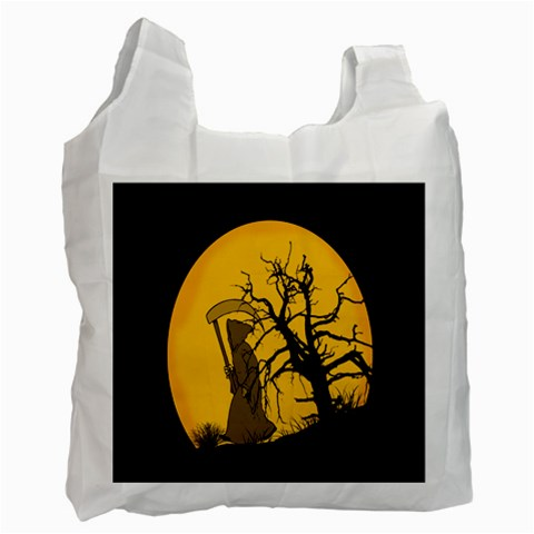 Death Haloween Background Card Recycle Bag (Two Side)