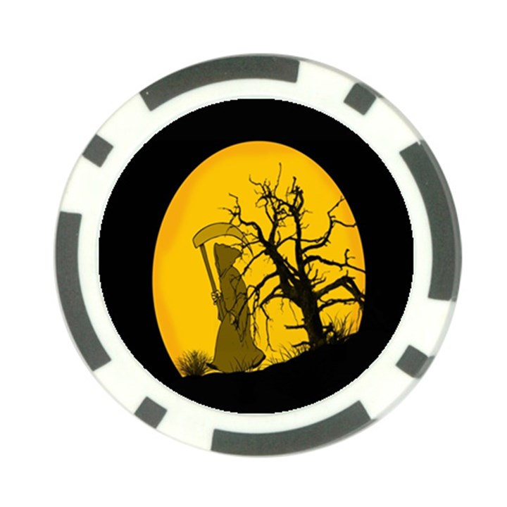 Death Haloween Background Card Poker Chip Card Guards (10 pack)