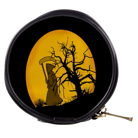 Death Haloween Background Card Mini Makeup Bags
