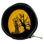 Death Haloween Background Card Mini Makeup Bags Front