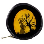 Death Haloween Background Card Mini Makeup Bags Back