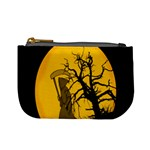 Death Haloween Background Card Mini Coin Purses Front