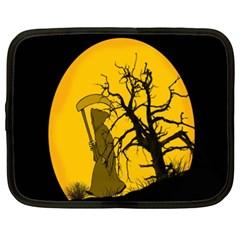 Death Haloween Background Card Netbook Case (XXL)