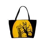 Death Haloween Background Card Shoulder Handbags Back