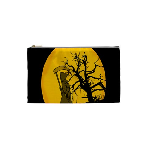 Death Haloween Background Card Cosmetic Bag (Small)