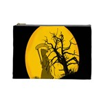 Death Haloween Background Card Cosmetic Bag (Large)  Front