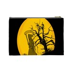 Death Haloween Background Card Cosmetic Bag (Large)  Back