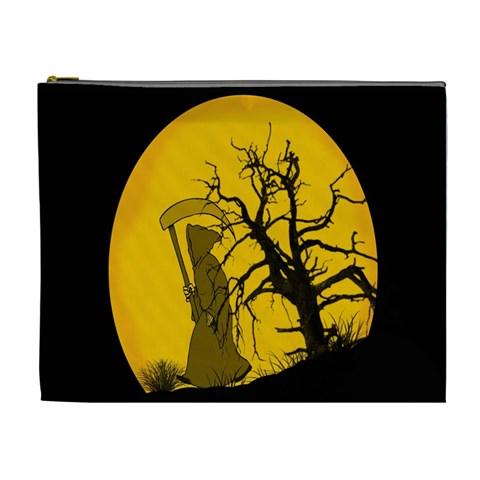 Death Haloween Background Card Cosmetic Bag (XL)