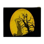 Death Haloween Background Card Cosmetic Bag (XL) Back