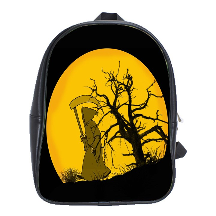 Death Haloween Background Card School Bags(Large)