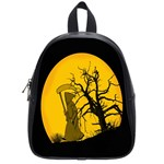 Death Haloween Background Card School Bags (Small)  Front