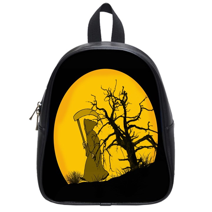 Death Haloween Background Card School Bags (Small)