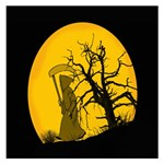 Death Haloween Background Card Small Memo Pads 3.75 x3.75  Memopad