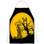 Death Haloween Background Card Full Print Aprons Front