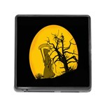 Death Haloween Background Card Memory Card Reader (Square) Front
