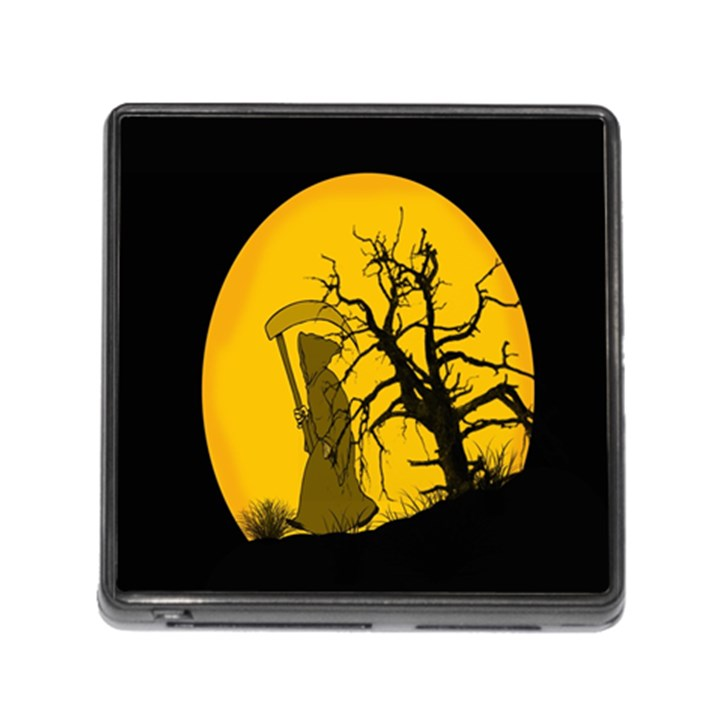 Death Haloween Background Card Memory Card Reader (Square)