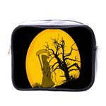 Death Haloween Background Card Mini Toiletries Bags Front