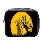 Death Haloween Background Card Mini Toiletries Bag 2-Side Front